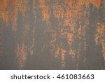 close up of old metal wall with ... | Shutterstock . vector #461083663