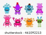 set of cheerful and terrible... | Shutterstock .eps vector #461092213
