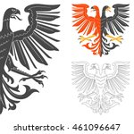 double headed eagle... | Shutterstock .eps vector #461096647