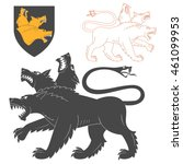 black cerberus illustration for ... | Shutterstock .eps vector #461099953