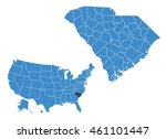 south carolina state map | Shutterstock .eps vector #461101447