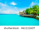 beautiful tropical maldives... | Shutterstock . vector #461112637
