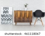 Graphic Wooden Commode...