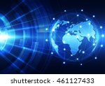 vector digital global... | Shutterstock .eps vector #461127433