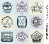 handicraft and diy insignias... | Shutterstock .eps vector #461132143