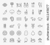 grill menu line icons set.... | Shutterstock .eps vector #461145877