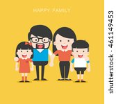 portrait of four member happy... | Shutterstock .eps vector #461149453