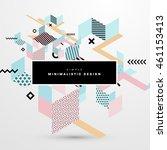 trendy geometric flat pattern ... | Shutterstock .eps vector #461153413