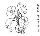 poppy flowers | Shutterstock .eps vector #461155243