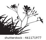set of flower trees vector... | Shutterstock .eps vector #461171977