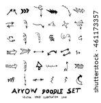 vector hand drawn arrows set | Shutterstock .eps vector #461173357