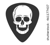 rock fest badge. guitar pick.... | Shutterstock .eps vector #461177437