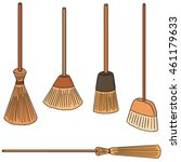 vector set of broom | Shutterstock .eps vector #461179633