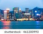 cityscape view blurred bokeh... | Shutterstock . vector #461200993