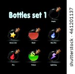 set of different bottles game...