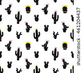 vector seamless pattern with... | Shutterstock .eps vector #461204437