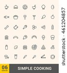 vector cooking thin icons...   Shutterstock .eps vector #461204857