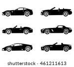 black silhouette. sport cars set | Shutterstock .eps vector #461211613