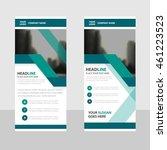green business roll up banner...   Shutterstock .eps vector #461223523