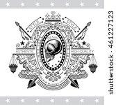 skull profile view in center of ... | Shutterstock .eps vector #461227123