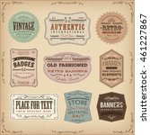 vintage and old fashioned... | Shutterstock .eps vector #461227867