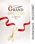 grand opening banner with cut... | Shutterstock .eps vector #461231887