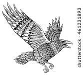 stylized crows. decorative bird.... | Shutterstock .eps vector #461231893