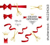 grand opening decoration... | Shutterstock .eps vector #461234263