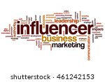 influencer word cloud | Shutterstock . vector #461242153