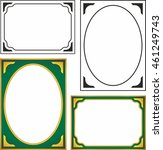 frames borders beautiful vector ... | Shutterstock .eps vector #461249743