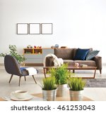 modern living room sofa and... | Shutterstock . vector #461253043
