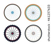 Set Of Bicycle Wheels. Road An...