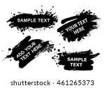 set of splatter hand drawn... | Shutterstock .eps vector #461265373