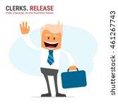illustration of office theme.... | Shutterstock .eps vector #461267743