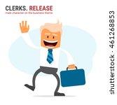 illustration of office theme.... | Shutterstock .eps vector #461268853