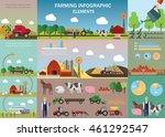 big farming infographic set...   Shutterstock .eps vector #461292547