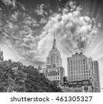 black and white view of midtown ... | Shutterstock . vector #461305327