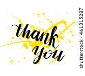 artistic brush lettering... | Shutterstock . vector #461315287