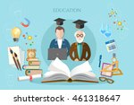 education banner infographic... | Shutterstock .eps vector #461318647