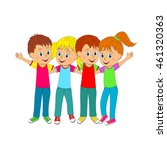 boys and girls hugging each... | Shutterstock .eps vector #461320363