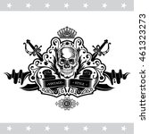skull front view without lower... | Shutterstock .eps vector #461323273