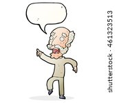 cartoon frightened old man with ... | Shutterstock . vector #461323513