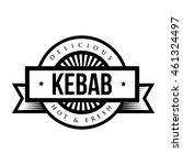 kebab stamp vintage style vector | Shutterstock .eps vector #461324497