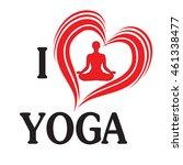 yoga love vector illustration