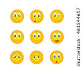 several round yellow emoticons... | Shutterstock .eps vector #461344657