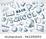 back to school background in... | Shutterstock .eps vector #461350093