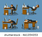 businessman bored tired... | Shutterstock .eps vector #461354353