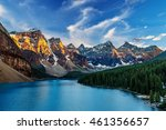 moraine lake is a glacially fed ... | Shutterstock . vector #461356657