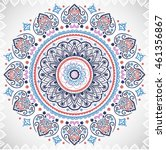 indian floral paisley medallion ... | Shutterstock .eps vector #461356867