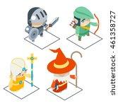 isometric fantasy game... | Shutterstock .eps vector #461358727